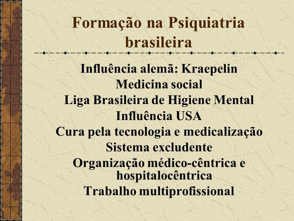 Formação na Psiquiatria brasileira