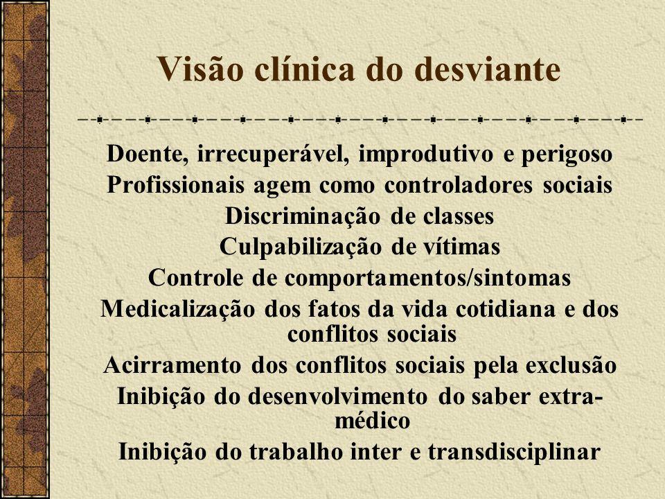 Visão clínica do desviante