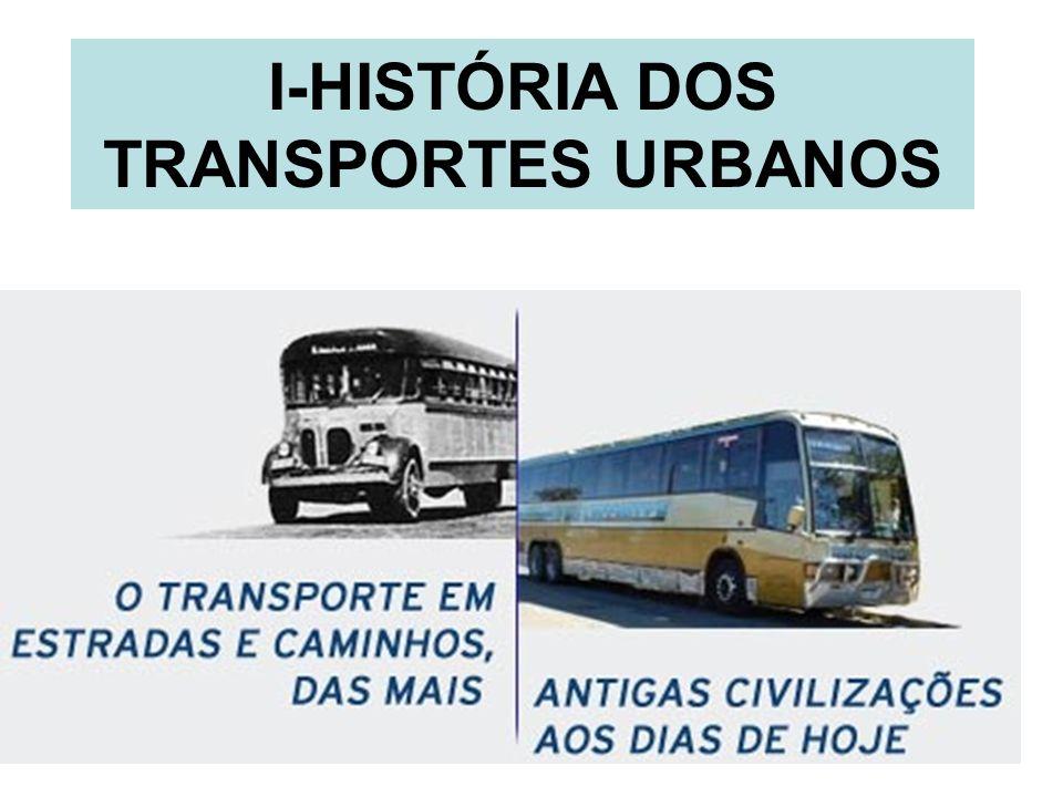 I-HISTÓRIA DOS TRANSPORTES URBANOS