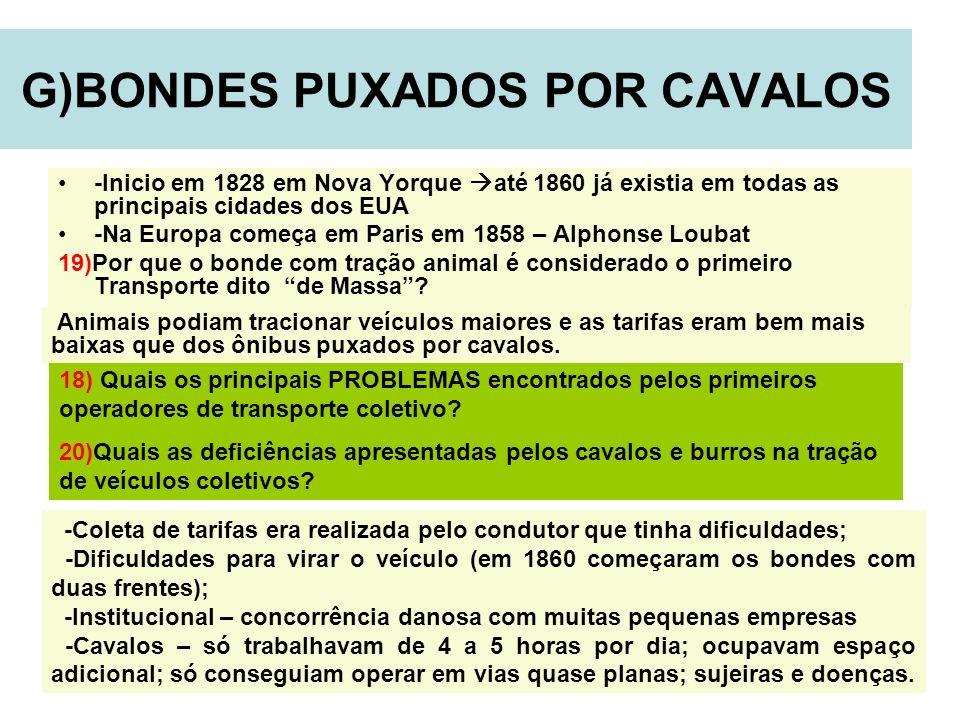 G)BONDES PUXADOS POR CAVALOS