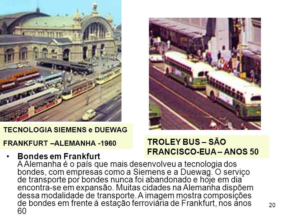 TROLEY BUS – SÃO FRANCISCO-EUA – ANOS 50