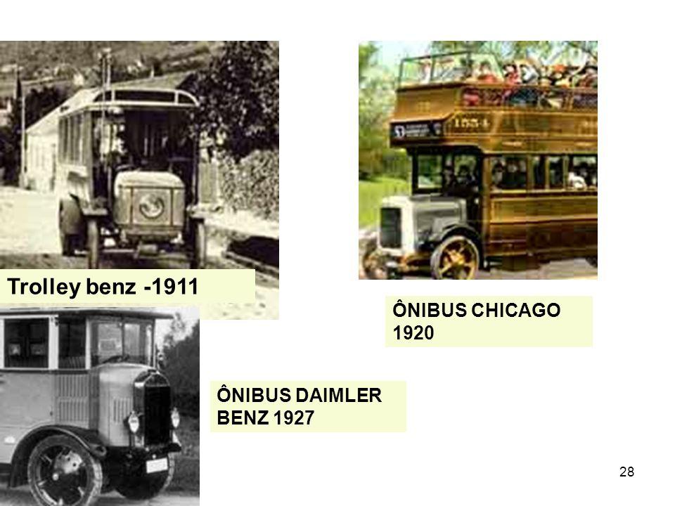 Trolley benz -1911 ÔNIBUS CHICAGO 1920 ÔNIBUS DAIMLER BENZ 1927