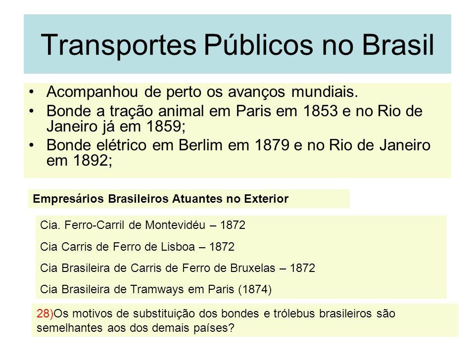 Transportes Públicos no Brasil