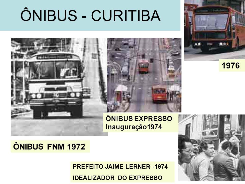 ÔNIBUS - CURITIBA 1976 ÔNIBUS FNM 1972 ÔNIBUS EXPRESSO Inauguração1974