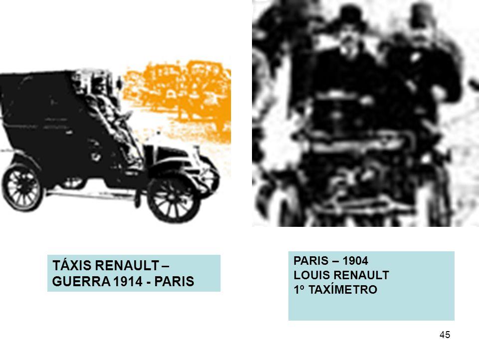 TÁXIS RENAULT – GUERRA 1914 - PARIS