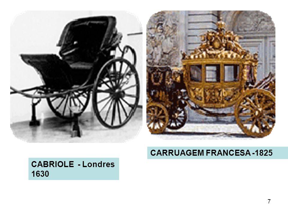 CARRUAGEM FRANCESA -1825 CABRIOLE - Londres 1630