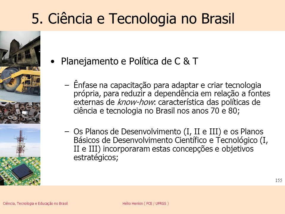 5. Ciência e Tecnologia no Brasil