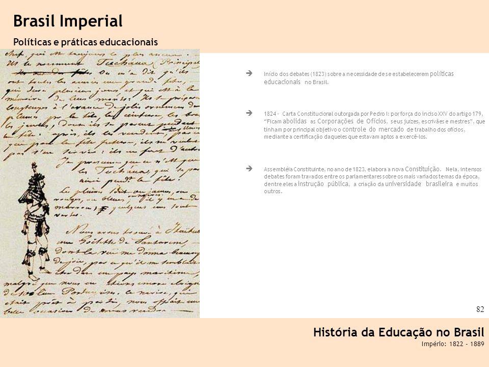 Brasil Imperial História da Educação no Brasil