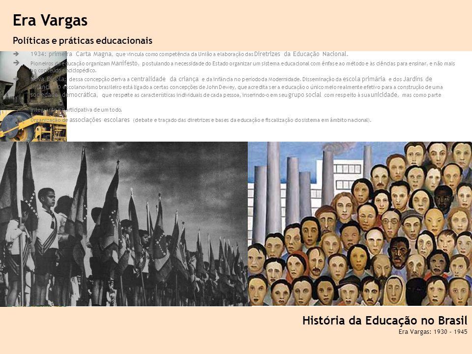 Era Vargas História da Educação no Brasil