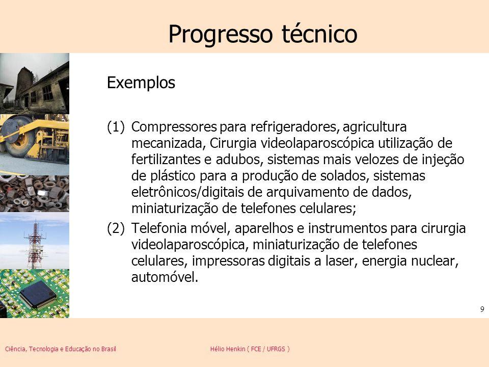 Progresso técnico Exemplos
