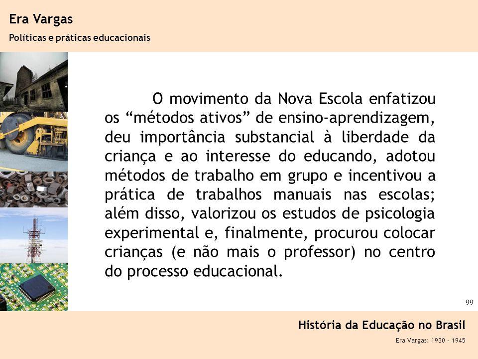 Era Vargas Políticas e práticas educacionais.