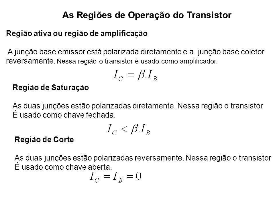 As Regiões de Operação do Transistor
