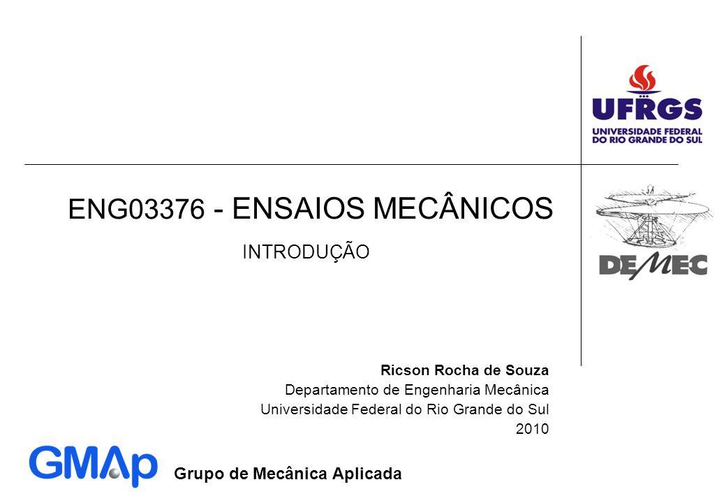 ENG03376 - ENSAIOS MECÂNICOS