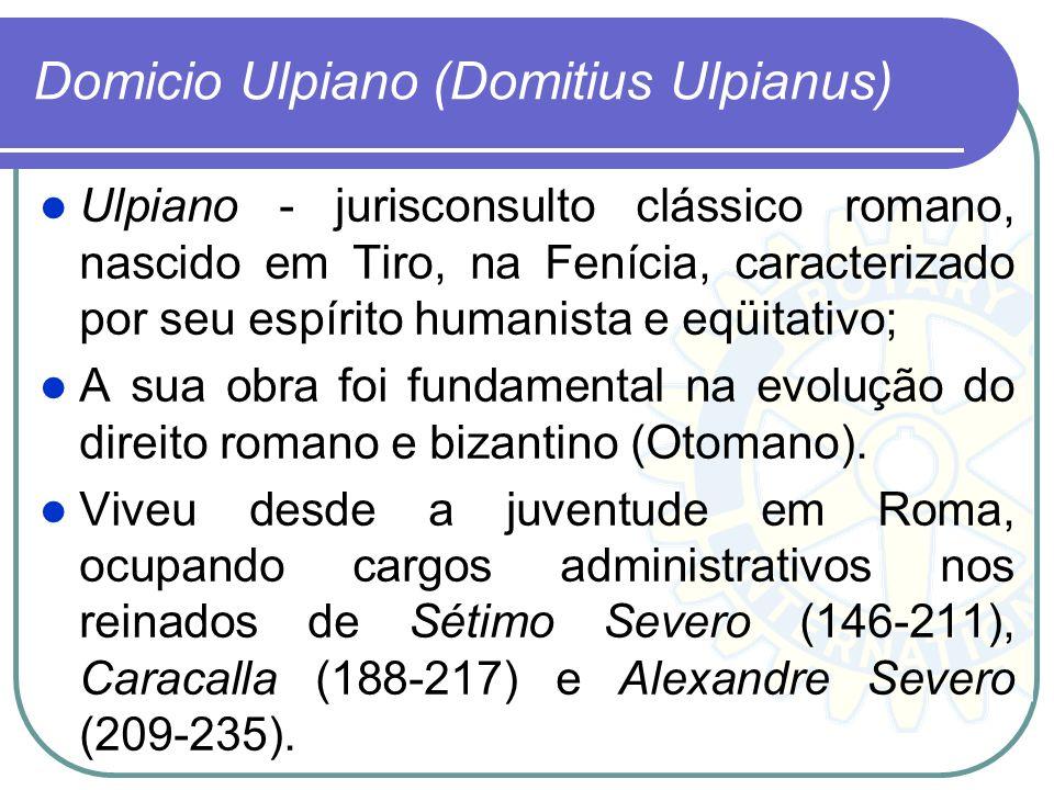 Domicio Ulpiano (Domitius Ulpianus)
