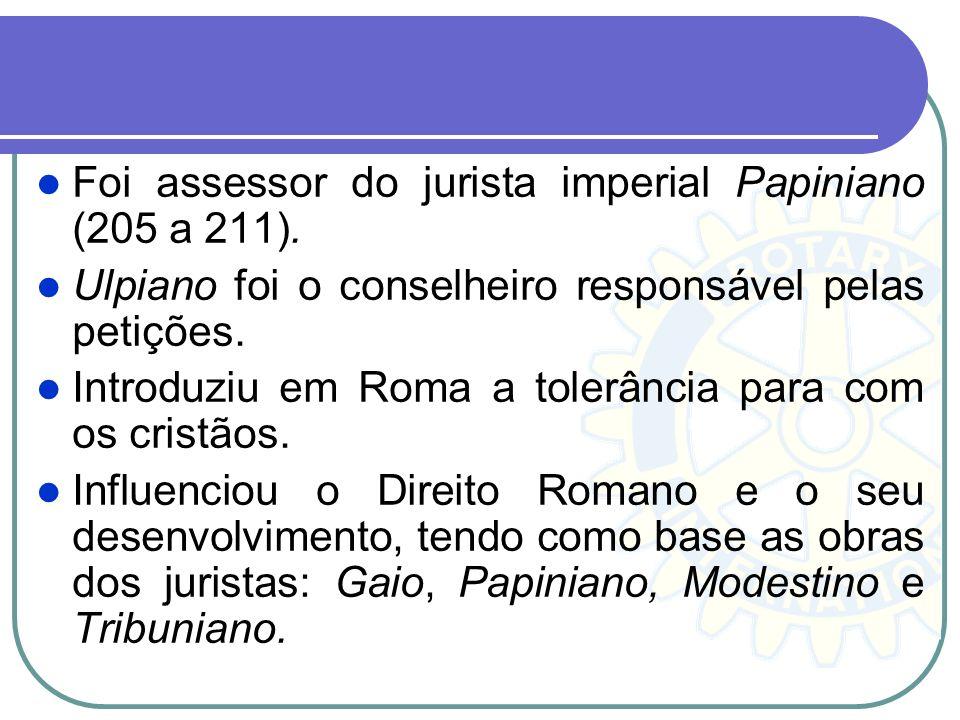 Foi assessor do jurista imperial Papiniano (205 a 211).