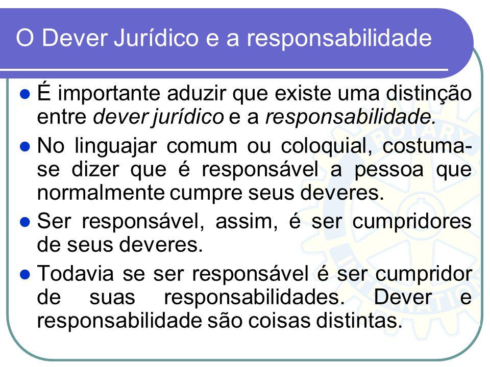 O Dever Jurídico e a responsabilidade