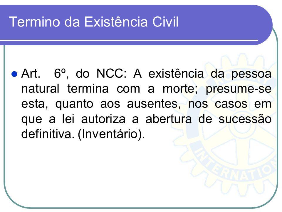 Termino da Existência Civil