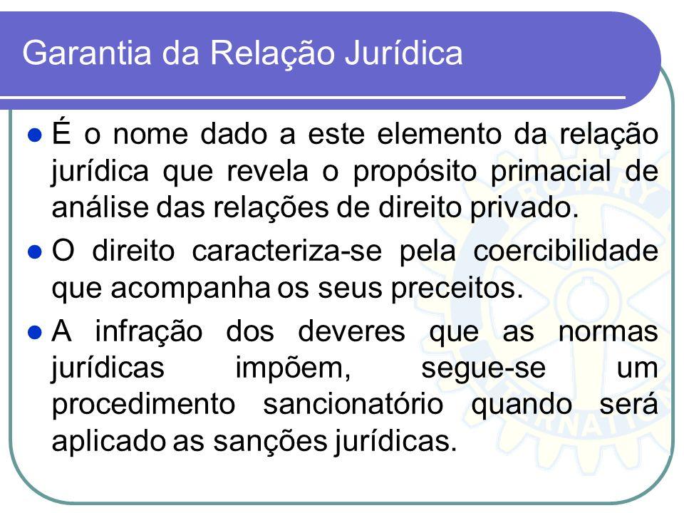 Garantia da Relação Jurídica