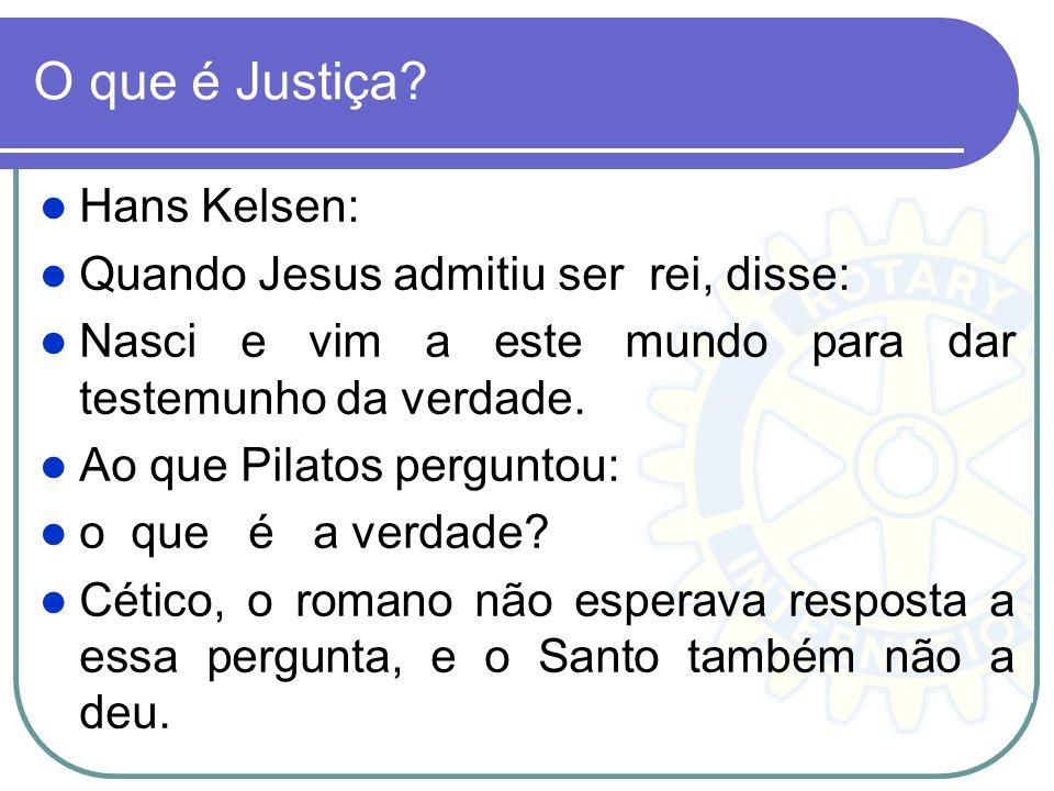 O que é Justiça Hans Kelsen: Quando Jesus admitiu ser rei, disse: