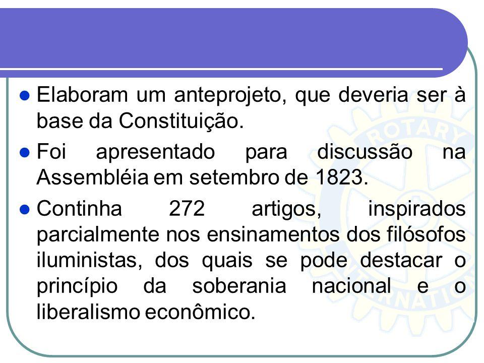 Elaboram um anteprojeto, que deveria ser à base da Constituição.