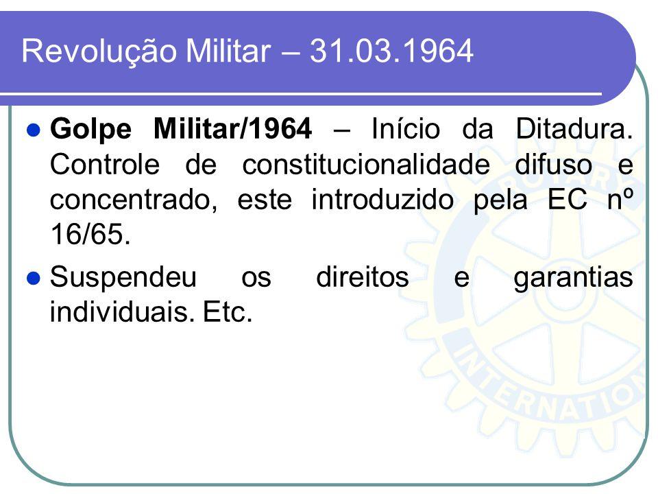 Revolução Militar – 31.03.1964