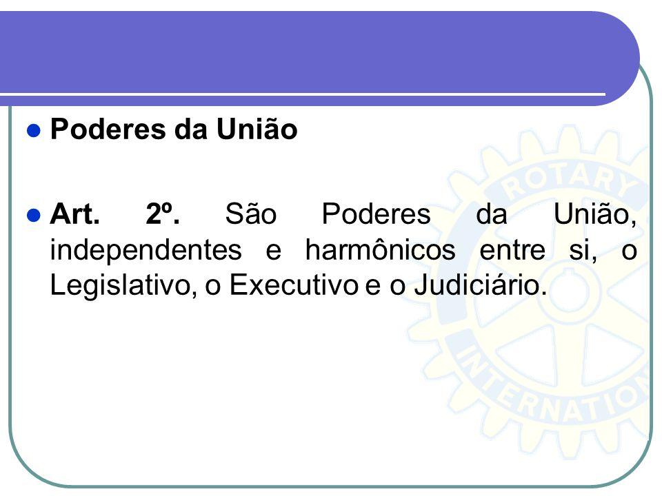Poderes da União Art. 2º.