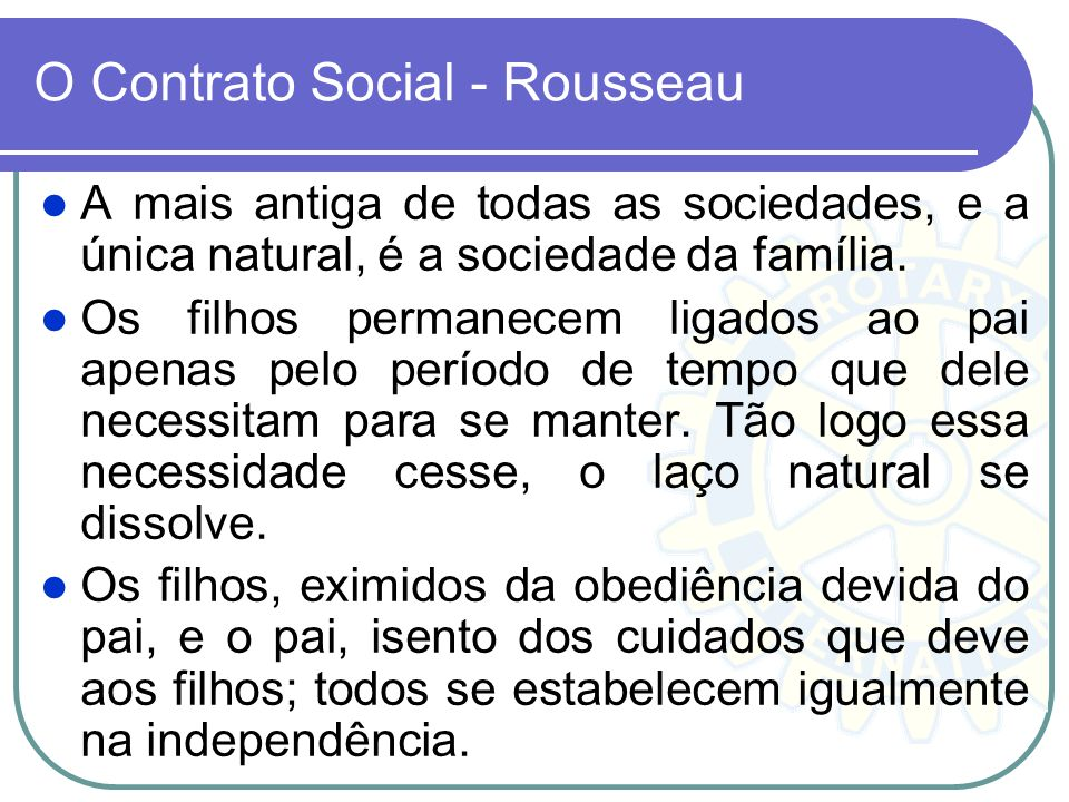 O Contrato Social - Rousseau