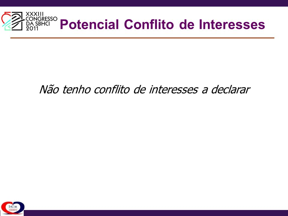 Potencial Conflito de Interesses