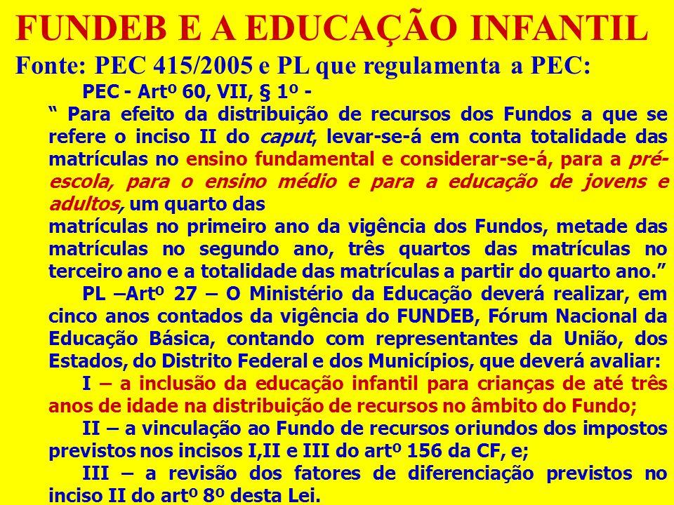 FUNDEB E A EDUCAÇÃO INFANTIL