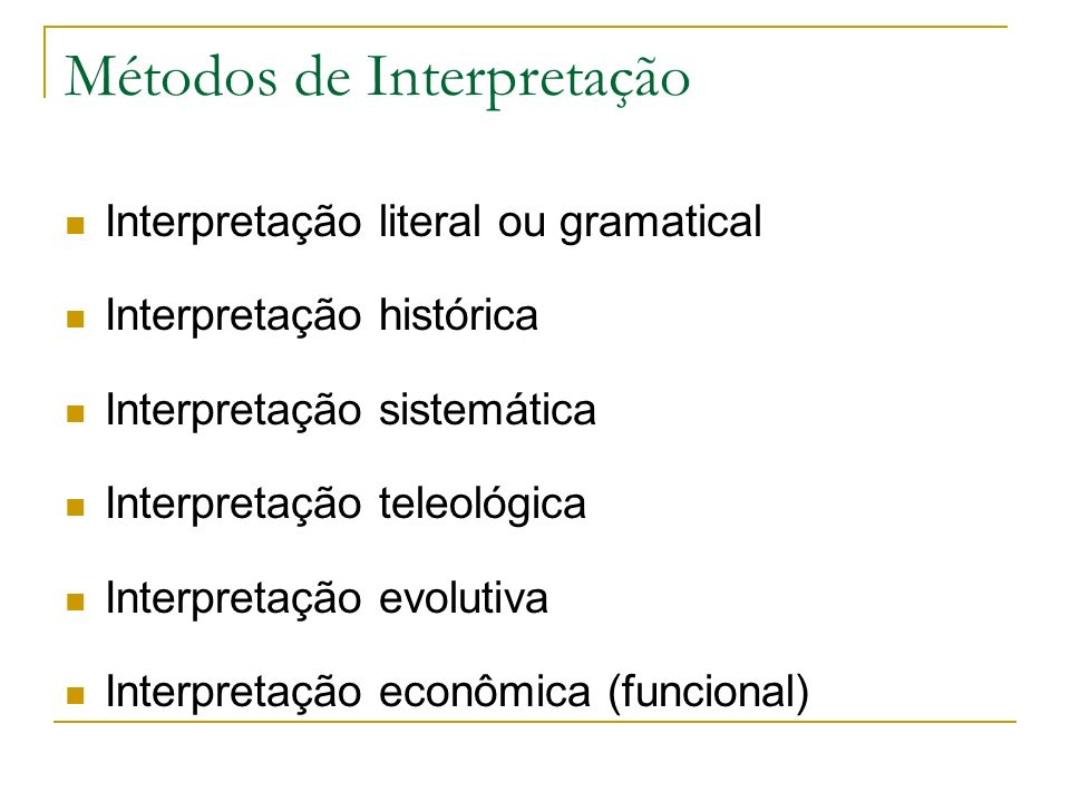 Métodos de Interpretação