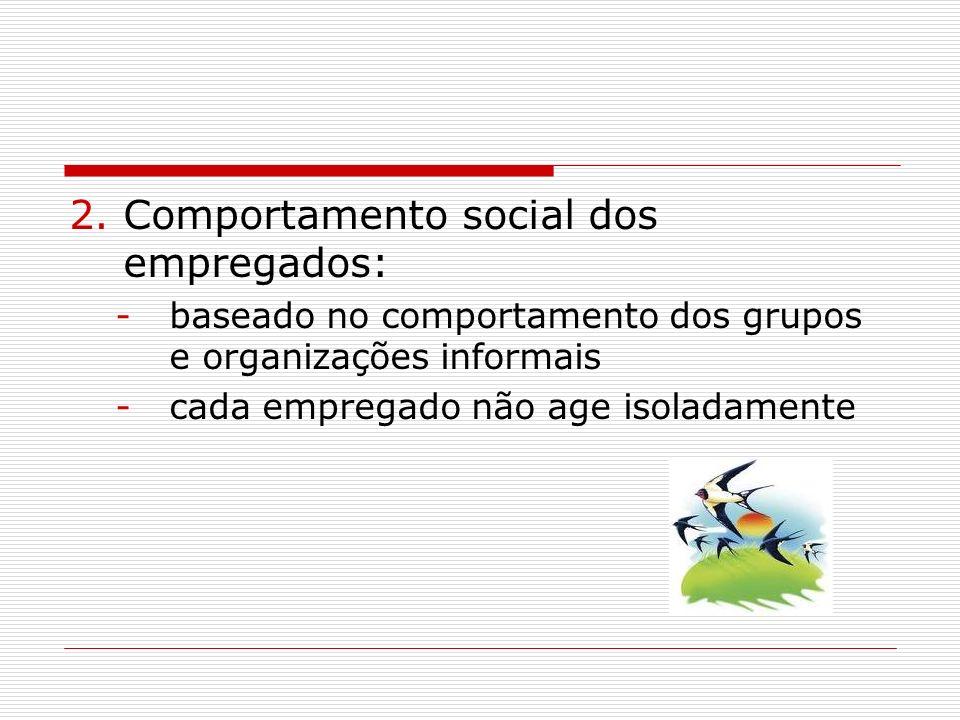 Comportamento social dos empregados: