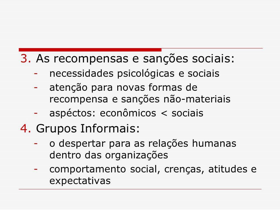 As recompensas e sanções sociais: