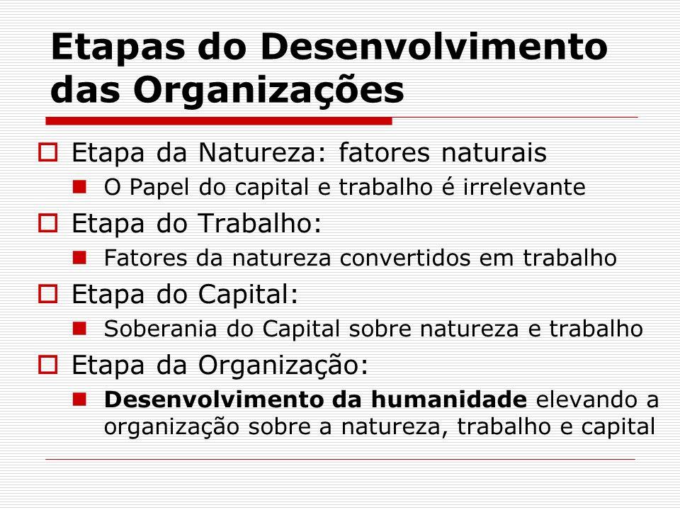 Etapas do Desenvolvimento das Organizações