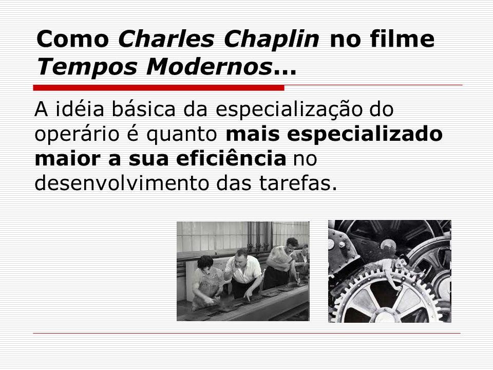 Como Charles Chaplin no filme Tempos Modernos...