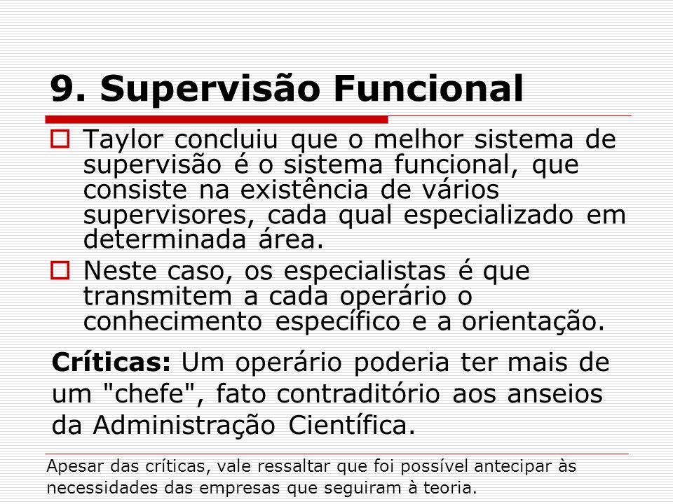 9. Supervisão Funcional
