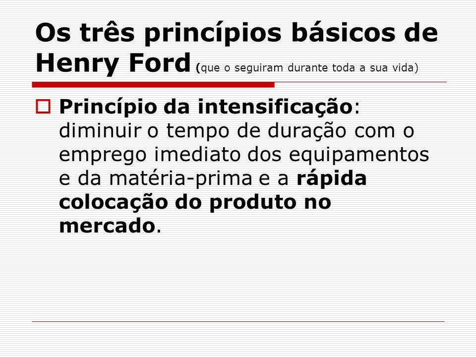 Os três princípios básicos de Henry Ford (que o seguiram durante toda a sua vida)