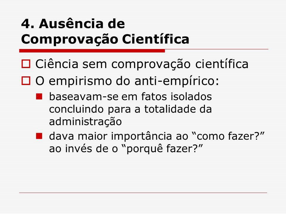 4. Ausência de Comprovação Científica