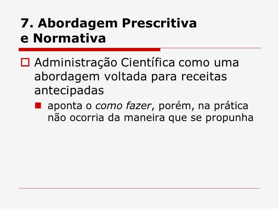 7. Abordagem Prescritiva e Normativa
