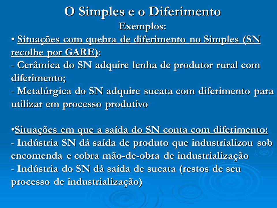 O Simples e o Diferimento