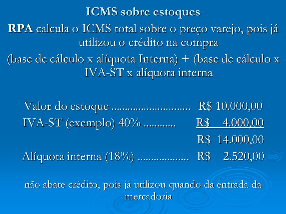Alíquota interna (18%) ................... R$ 2.520,00
