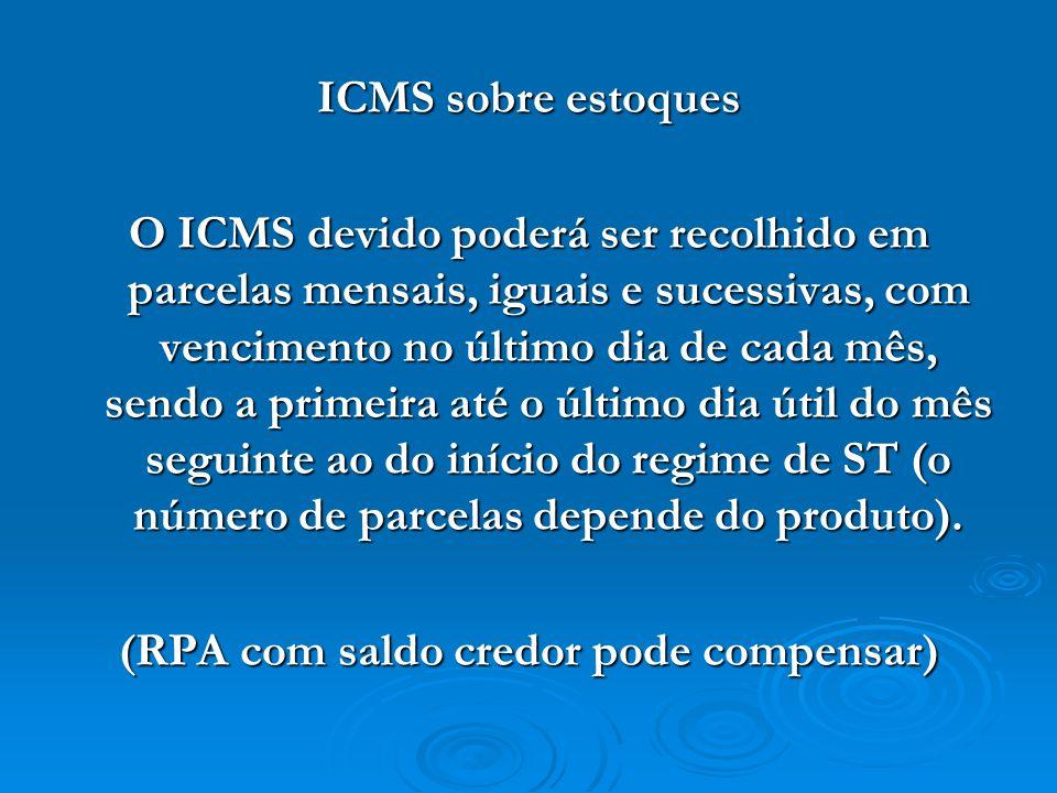 (RPA com saldo credor pode compensar)