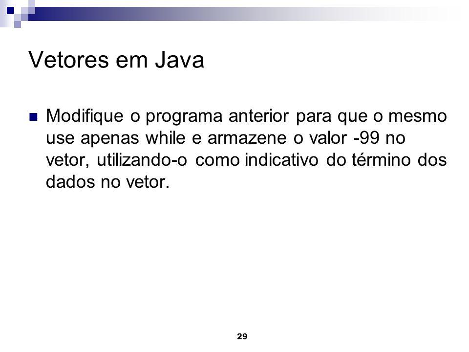 Vetores em Java
