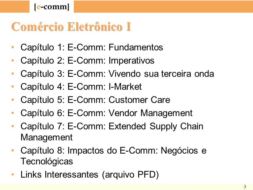 Comércio Eletrônico I Capítulo 1: E-Comm: Fundamentos