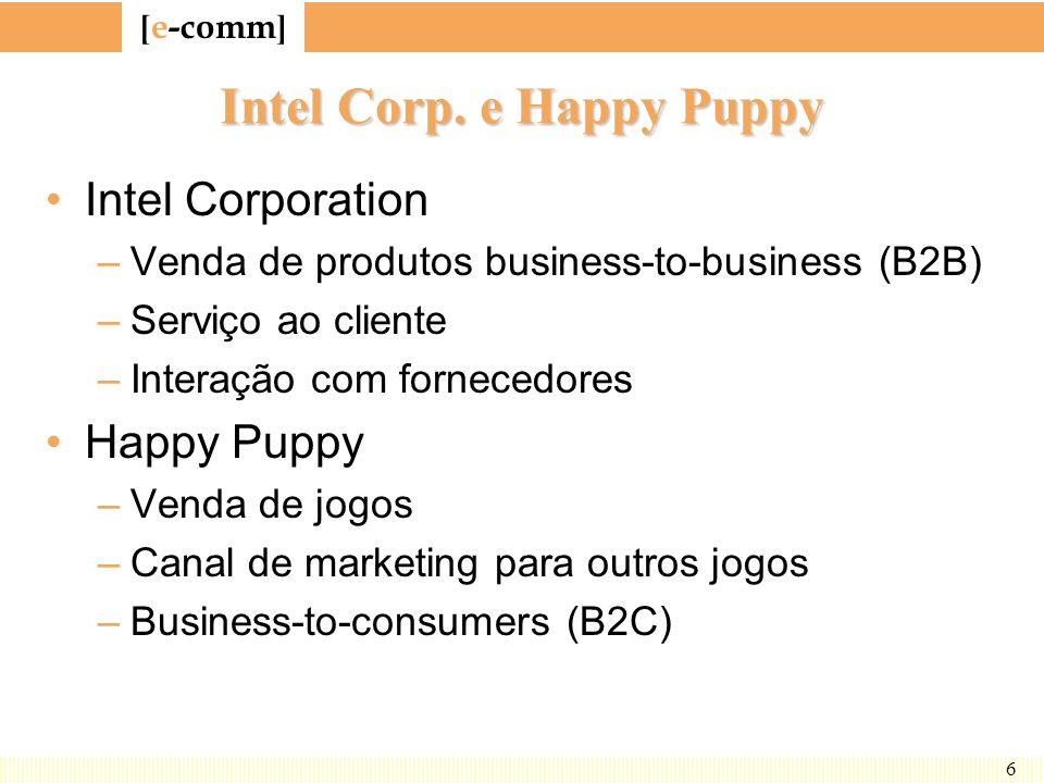 Intel Corp. e Happy Puppy