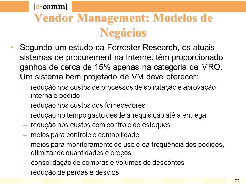 Vendor Management: Modelos de Negócios