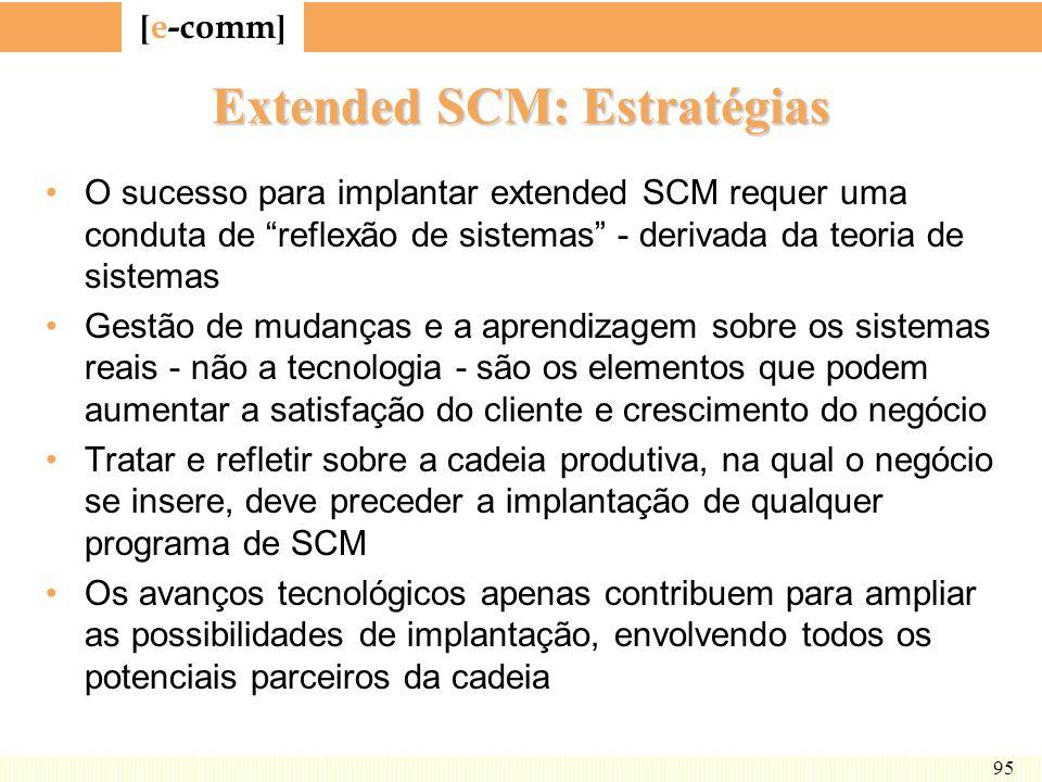 Extended SCM: Estratégias