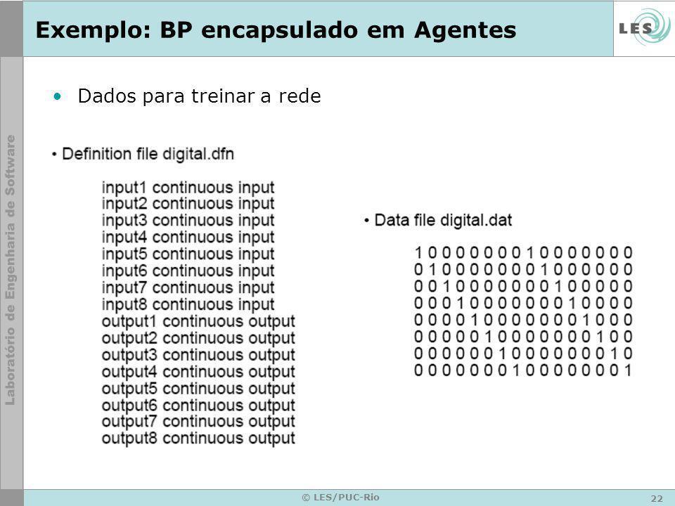 Exemplo: BP encapsulado em Agentes