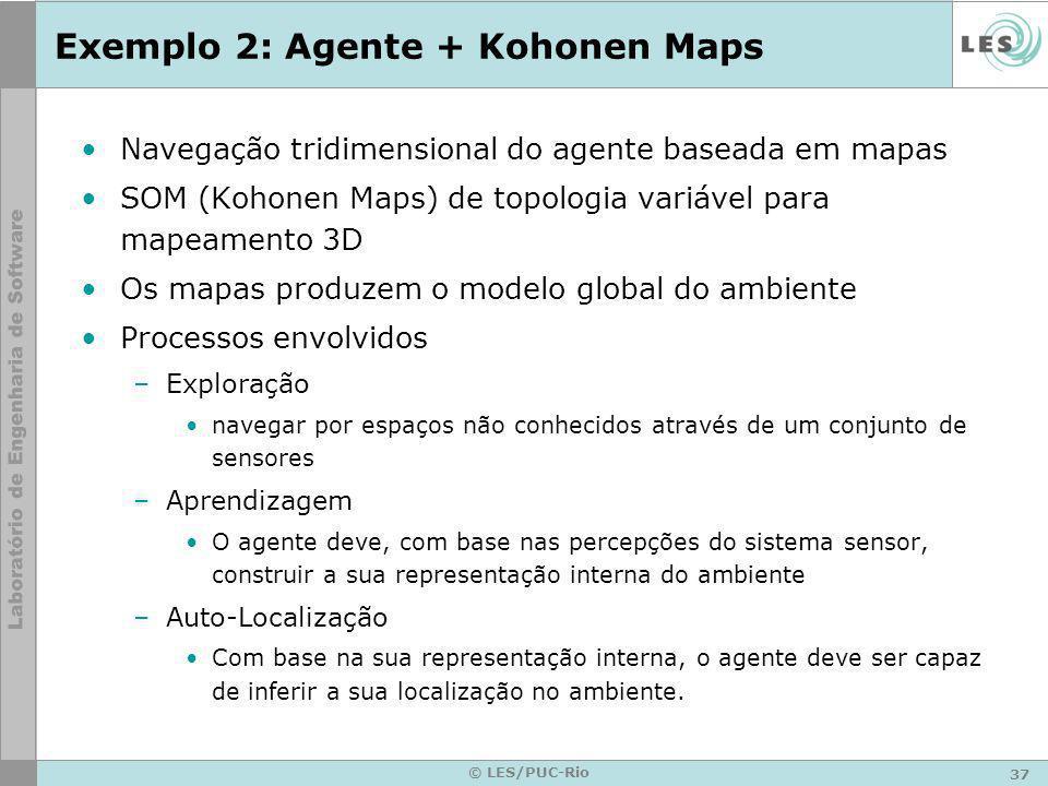 Exemplo 2: Agente + Kohonen Maps