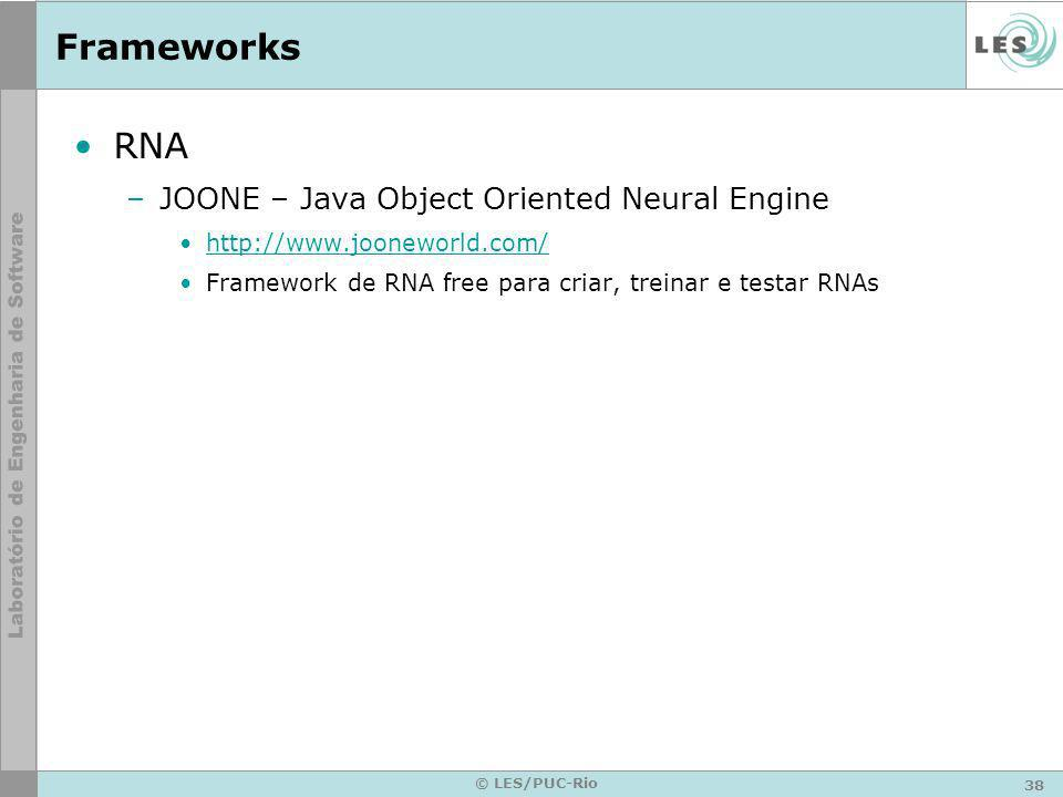 Frameworks RNA JOONE – Java Object Oriented Neural Engine