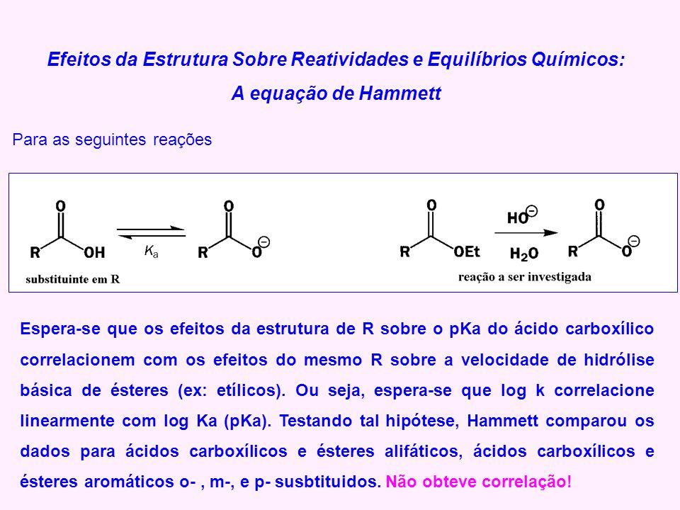 Efeitos da Estrutura Sobre Reatividades e Equilíbrios Químicos: